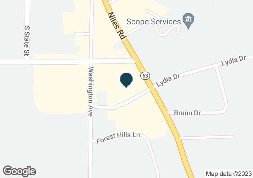 Google Map of1260 HILLTOP RD