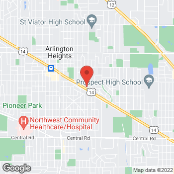 Map of Sprint at 1000 E Northwest Hwy, Arlington Heights, IL 60004