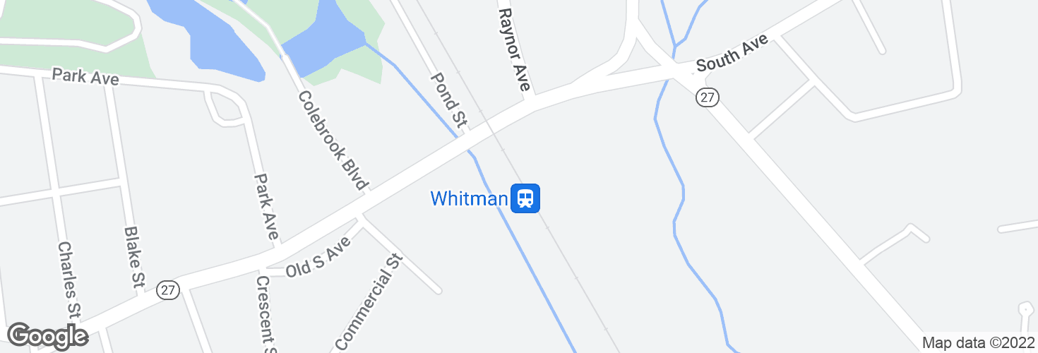 Map of Whitman and surrounding area