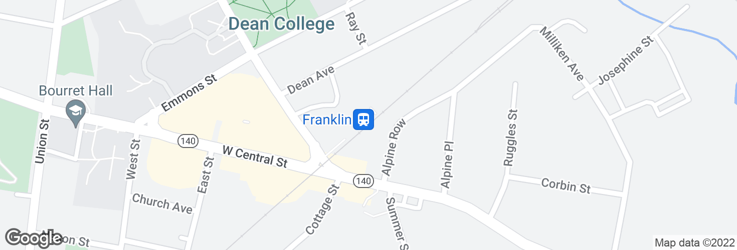 Map of Franklin and surrounding area