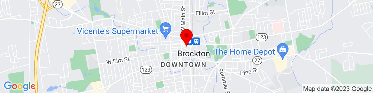 Google Map of 42.08343, -71.01838