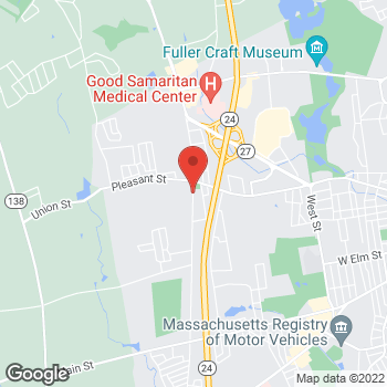 Map of Ralph Cahaly, MD at 35 Pearl Street, Brockton, MA 02301