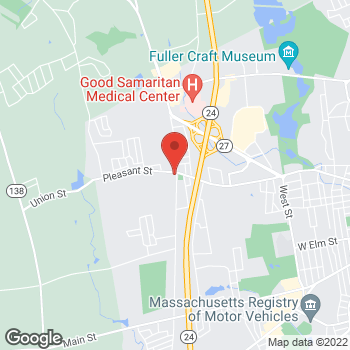 Map of Michael Jaklitsch, MD at 1 Pearl Street, Brockton, MA 02301