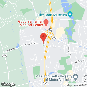 Map of Satinder Dhillon, MD at 1073 Pleasant Street, Brockton, MA 02301