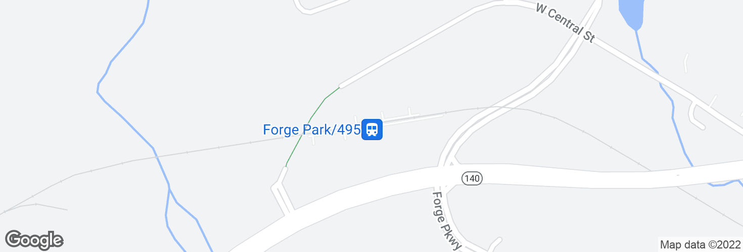 Map of Forge Park/495 and surrounding area