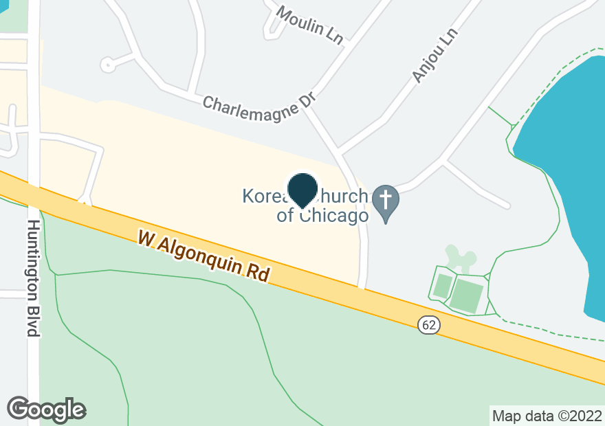Google Map of1550 W ALGONQUIN RD