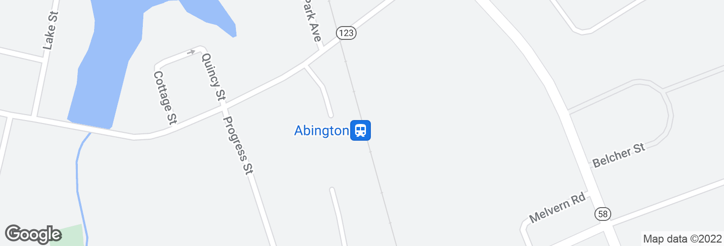Map of Abington and surrounding area