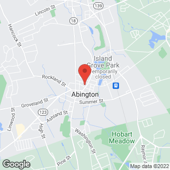 Map of Mary Boyum, NP at 536 Washington Street, Abington, MA 02351