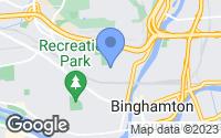 Map of Binghamton, NY