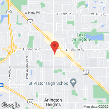 Map of Sprint at 235 E Palatine Rd, Arlington Heights, IL 60004