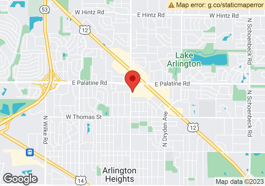Google Map of 235 E PALATINE RD