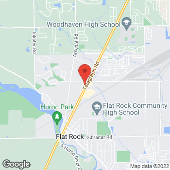 Map of Arby's at 27074 Telegraph Rd, Flat Rock, MI 48134