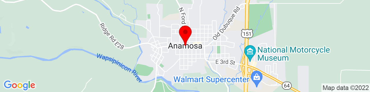 Google Map of 42.1083371, -91.28515940000001