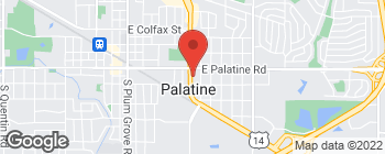 Map of 35 S Northwest Hwy in Palatine