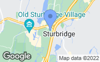 Map of Sturbridge, MA