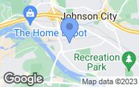 Map of Johnson City, NY