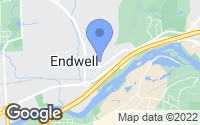 Map of Endicott, NY