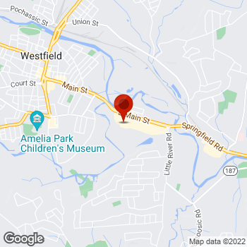 Map of Staples® Print & Marketing Services at 273 B East Main St., Westfield, MA 01085