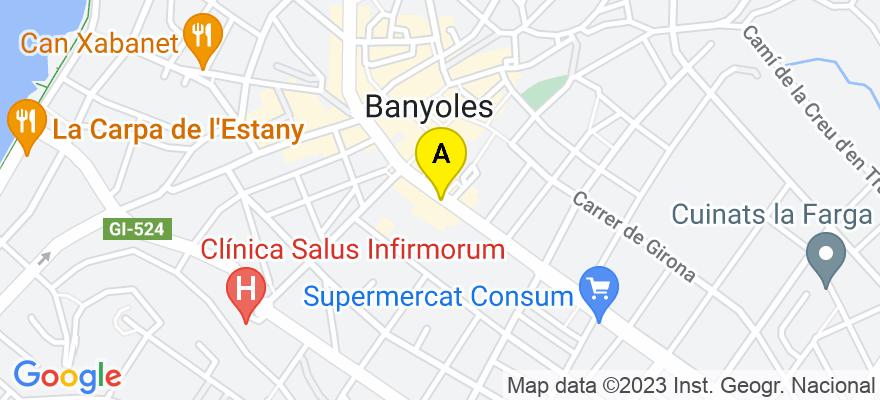 situacion en el mapa de . Direccion: Av. dels Països Catalans, 40, 1-J, 17820 Banyoles. Girona