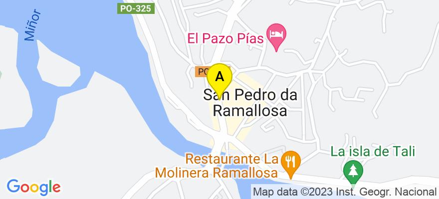 situacion en el mapa de . Direccion: Manuel Lemos 22, 1º B (La Ramallosa), 36379 Nigrán. Pontevedra