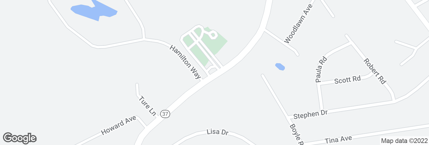 Map of S Franklin St @ Hamilton Way and surrounding area