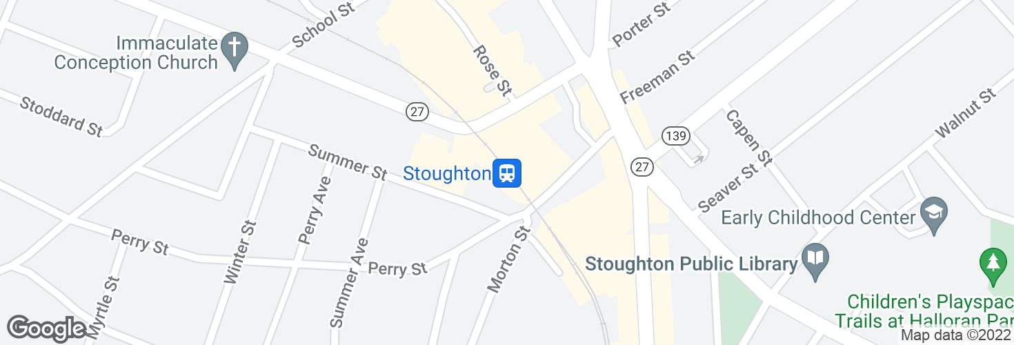 Map of Stoughton and surrounding area