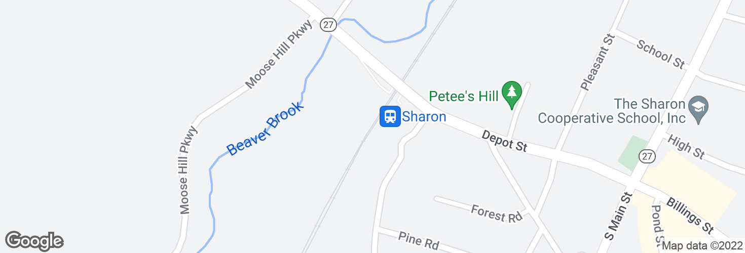 Map of Sharon and surrounding area