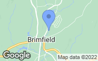 Map of Brimfield, MA