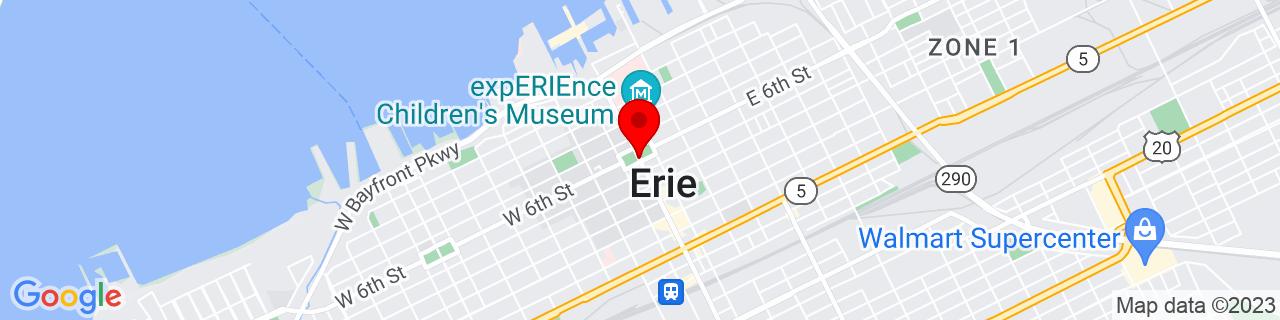 Google Map of 42.12922409999999, -80.085059