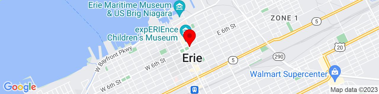 Google Map of 42.1300293, -80.0838005