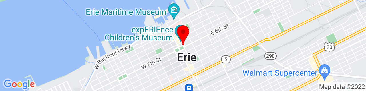 Google Map of 42.1303756, -80.08415169999999
