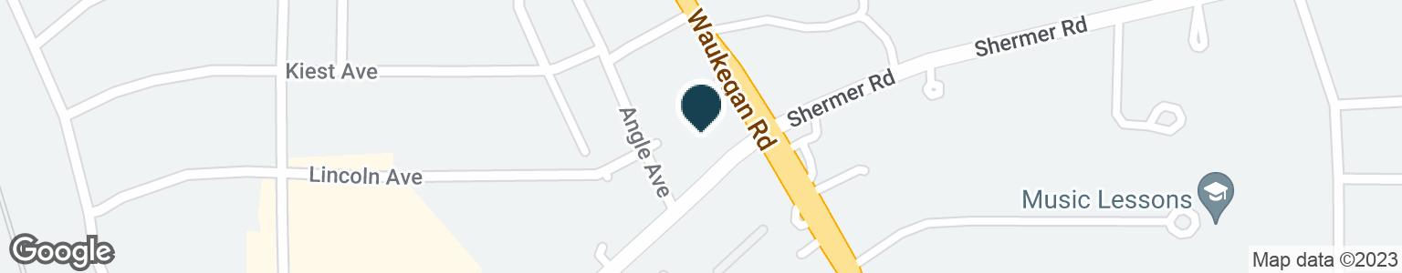 Google Map of1050 WAUKEGAN RD