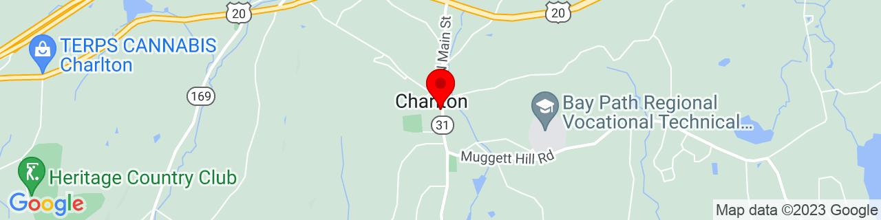 Google Map of 42.13565, -71.970074