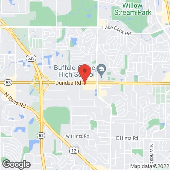 Map of Burger King at 1515 W Dundee Rd, Buffalo Grove, IL 60089