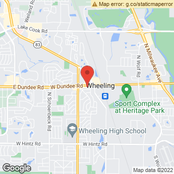 Map of Dr. Kenneth Portnoy at 727 West Dundee Road, Wheeling, IL 60090