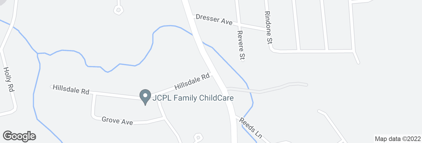 Map of S Franklin St @ Hillsdale Rd and surrounding area