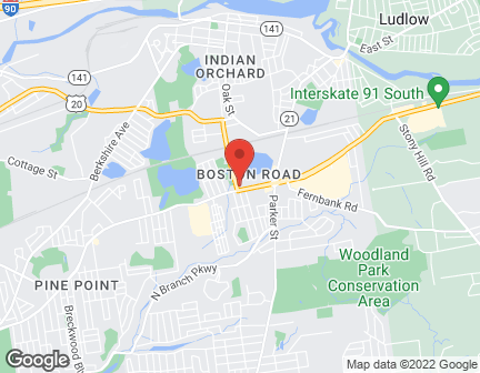 Map of 1284 Boston Road in Springfield