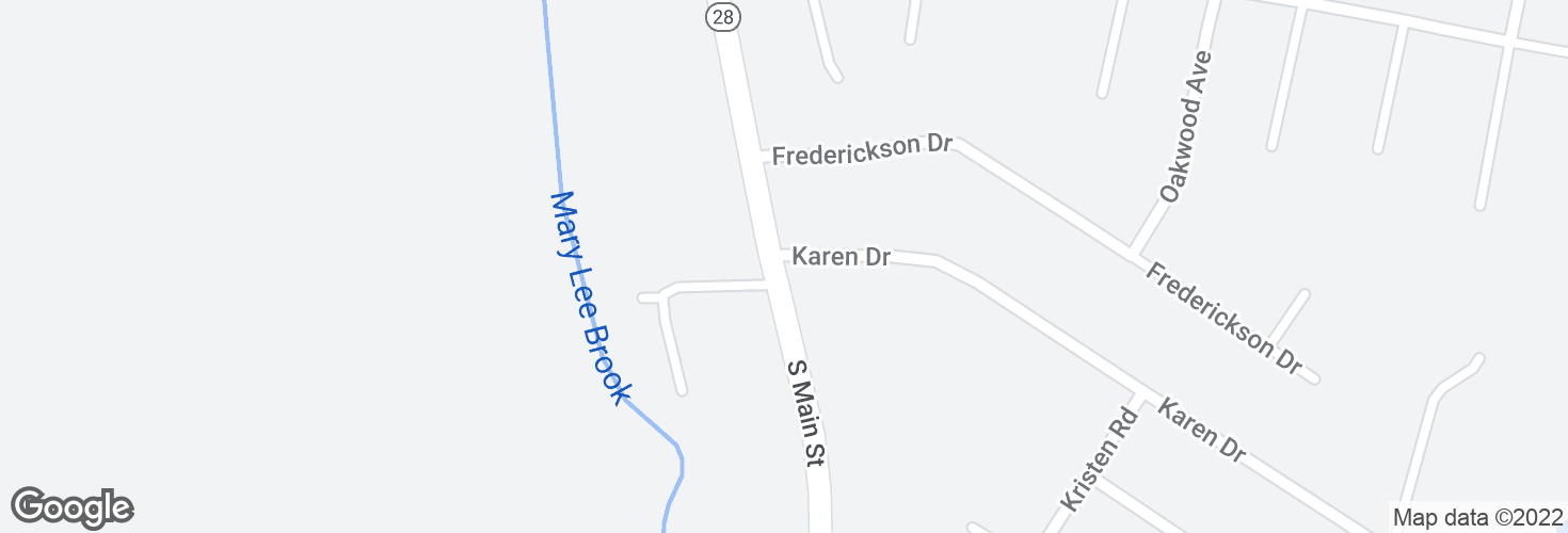 Map of S Main St @ Karen Dr and surrounding area