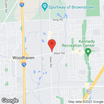 Map of Speedy Café at 19900 West Rd, Woodhaven, MI 48183
