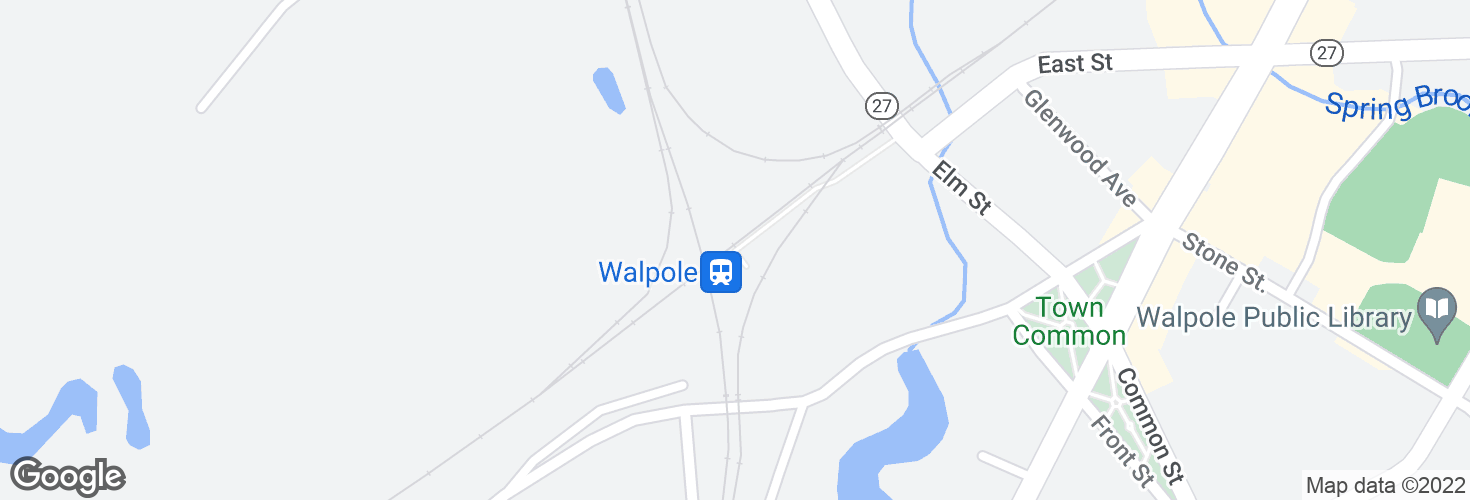 Map of Walpole and surrounding area