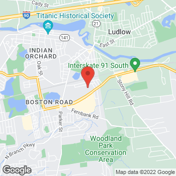 Map of Hair Cuttery at 1712 Boston Road, Springfield, MA 01129