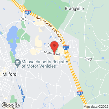 Map of Panera Bread at 91 Medway Road, Milford, MA 01757