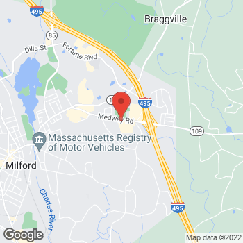 Map of Panera Bread at 91 Medway Road, Milford, Massachusetts 01757