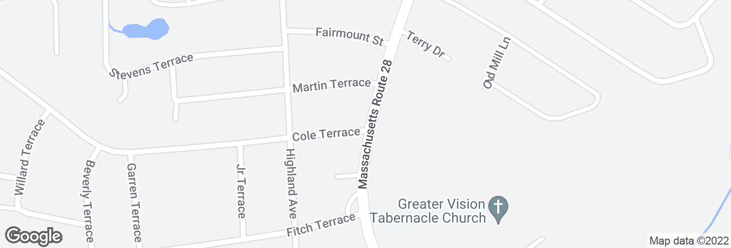 Map of S Main St @ Cole Terr and surrounding area