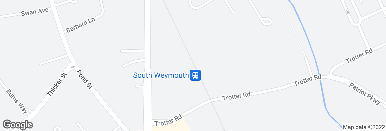 Map of South Weymouth and surrounding area