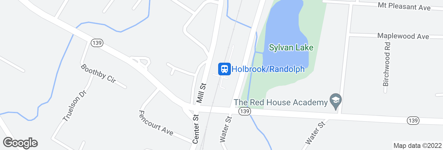 Map of Holbrook/Randolph and surrounding area
