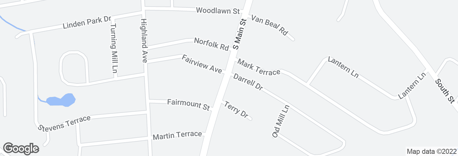 Map of S Main St @ Darrell Dr and surrounding area