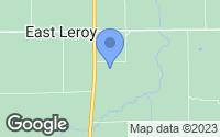 Map of East Leroy, MI
