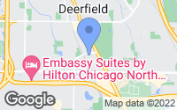 Map of Deerfield, IL