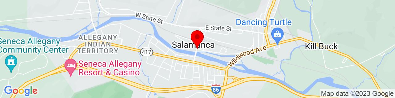 Google Map of 42.1578412, -78.71503109999999